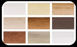 Sample Colors Faux Wood Blinds